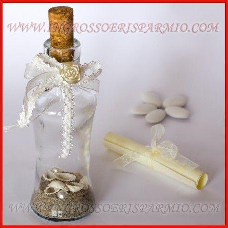 Partecipazioni Matrimonio In Bottiglia Prezzo.Partecipazioni Matrimonio In Bottiglia Di Vetro Inviti Nozze