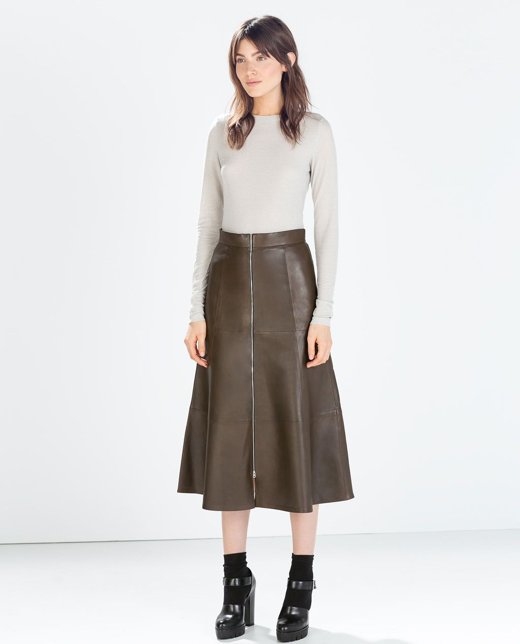 ZARA - WOMAN - LEATHER SKIRT
