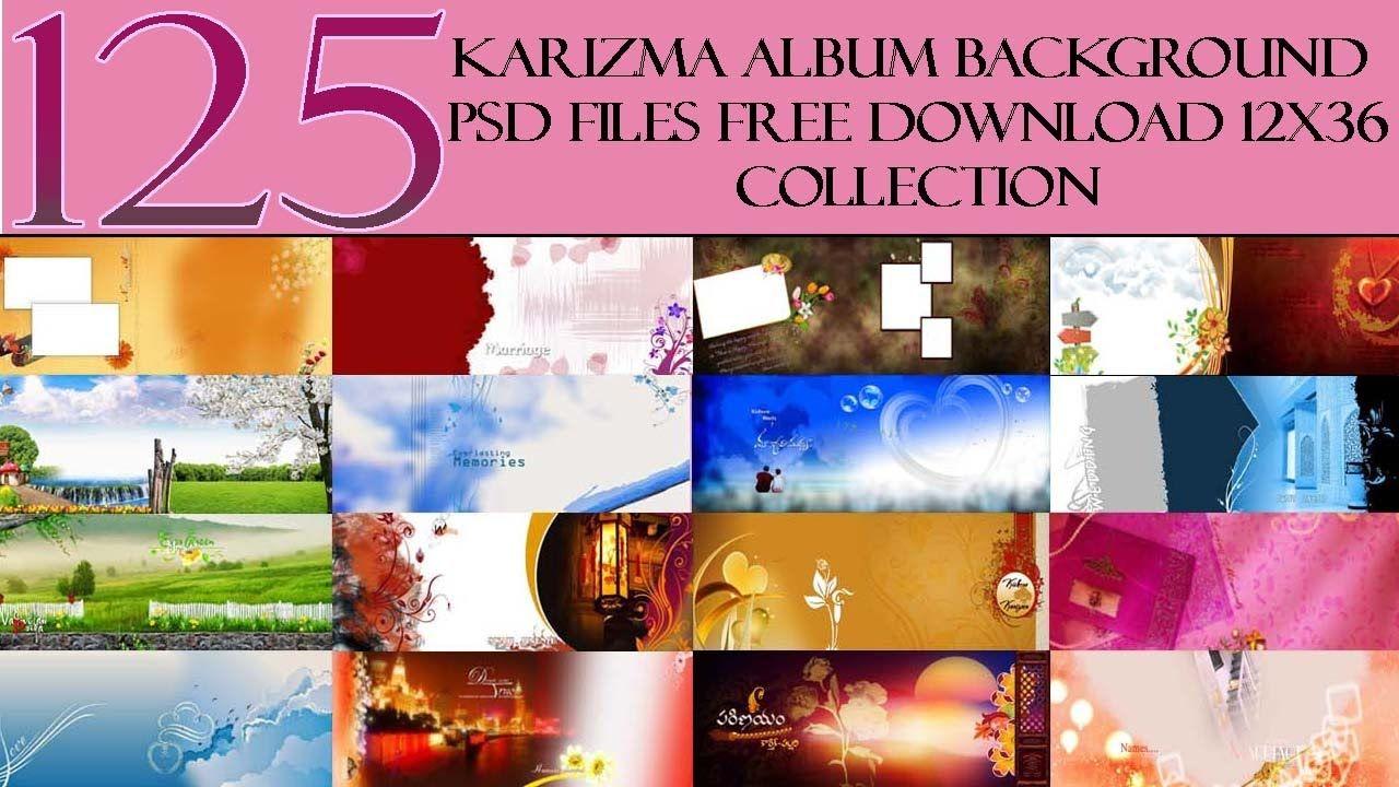 125 Karizma Album Background Psd Files Free Download 12x36