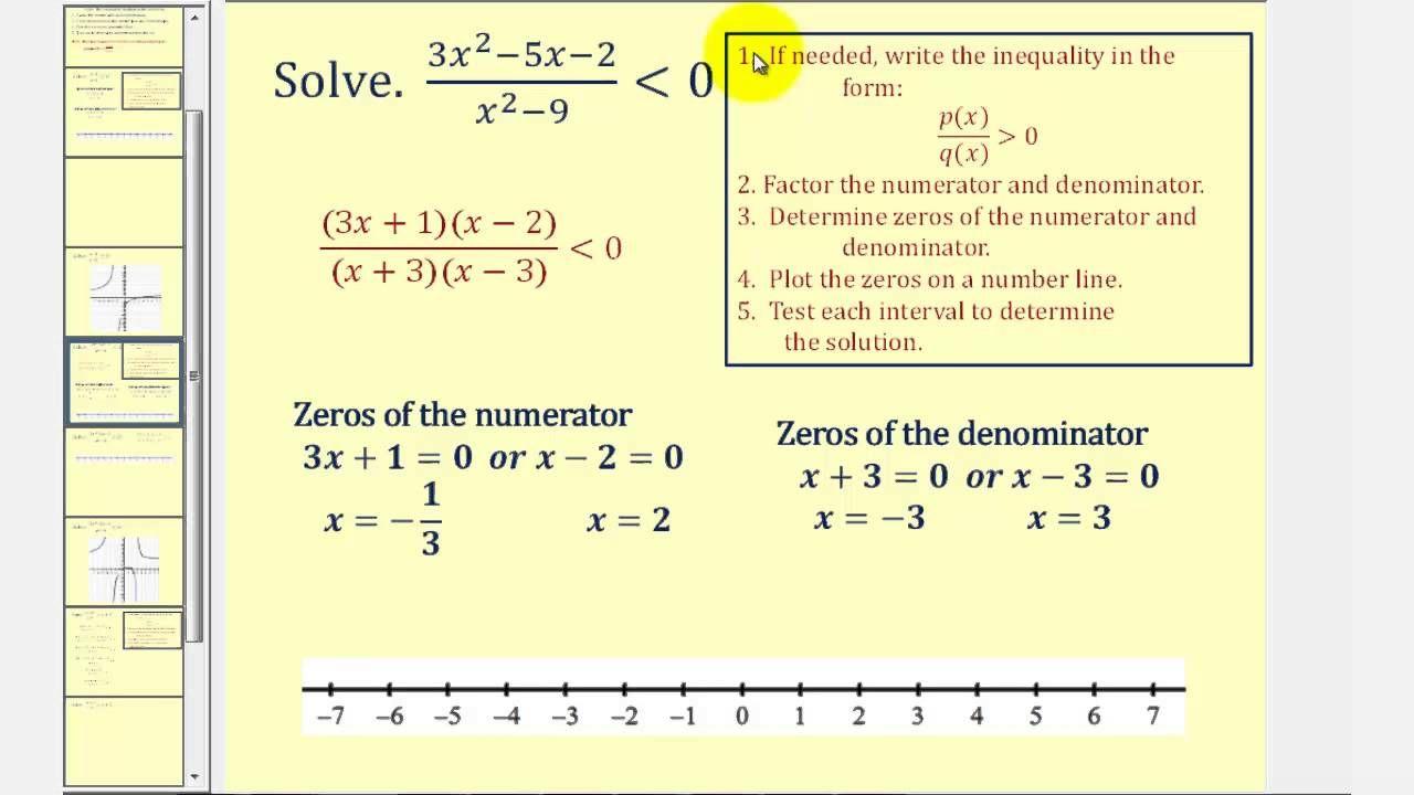 Solving Rational Inequalities Math Fraction Activities Graphing Inequalities Math Word Problems [ 720 x 1280 Pixel ]