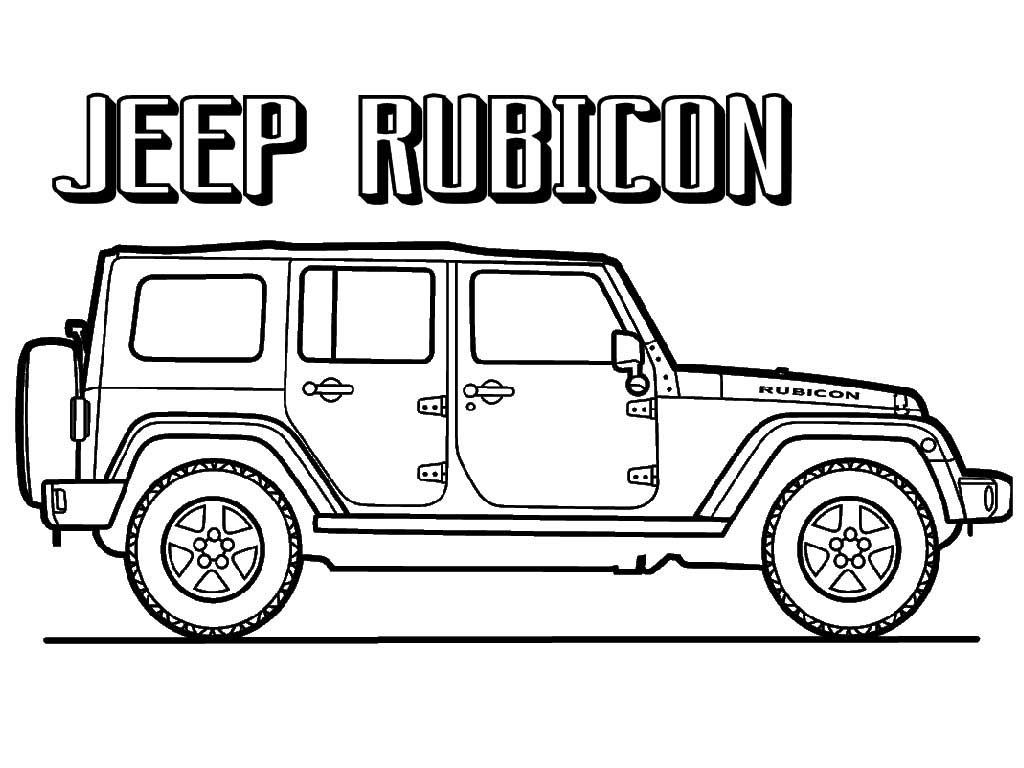 Free Jeep Coloring Pages To Print  Coloring pages to print, Truck