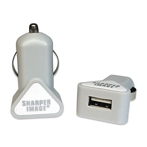 Sharper Image Usb Car Charger For Android In White