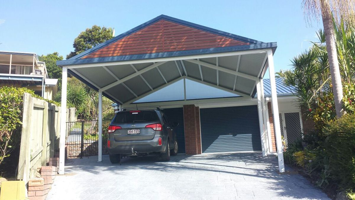 Image result for carport next to house roller door bright