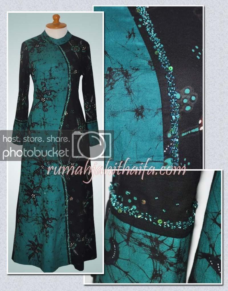 Model Gamis Batik Bakaran di 12  Lengan panjang, Cocok, Model
