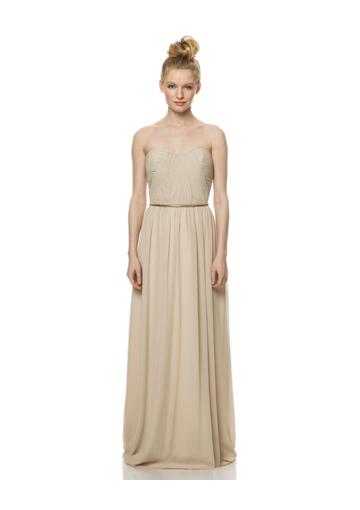 a line floor length champange chiffon gown