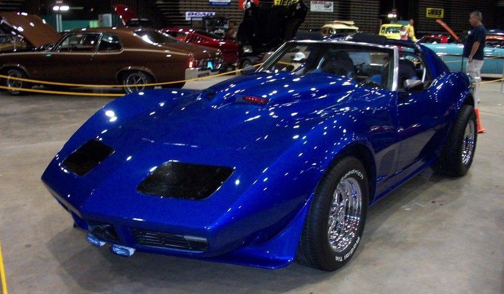 1974 chevrolet blue corvette stingray fully customized - Corvette Stingray Light Blue