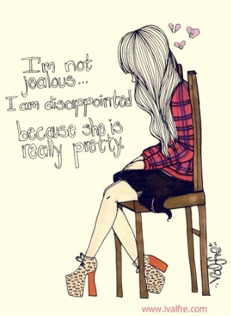 i'm not jealous · Cute Drawings TumblrQuote ...