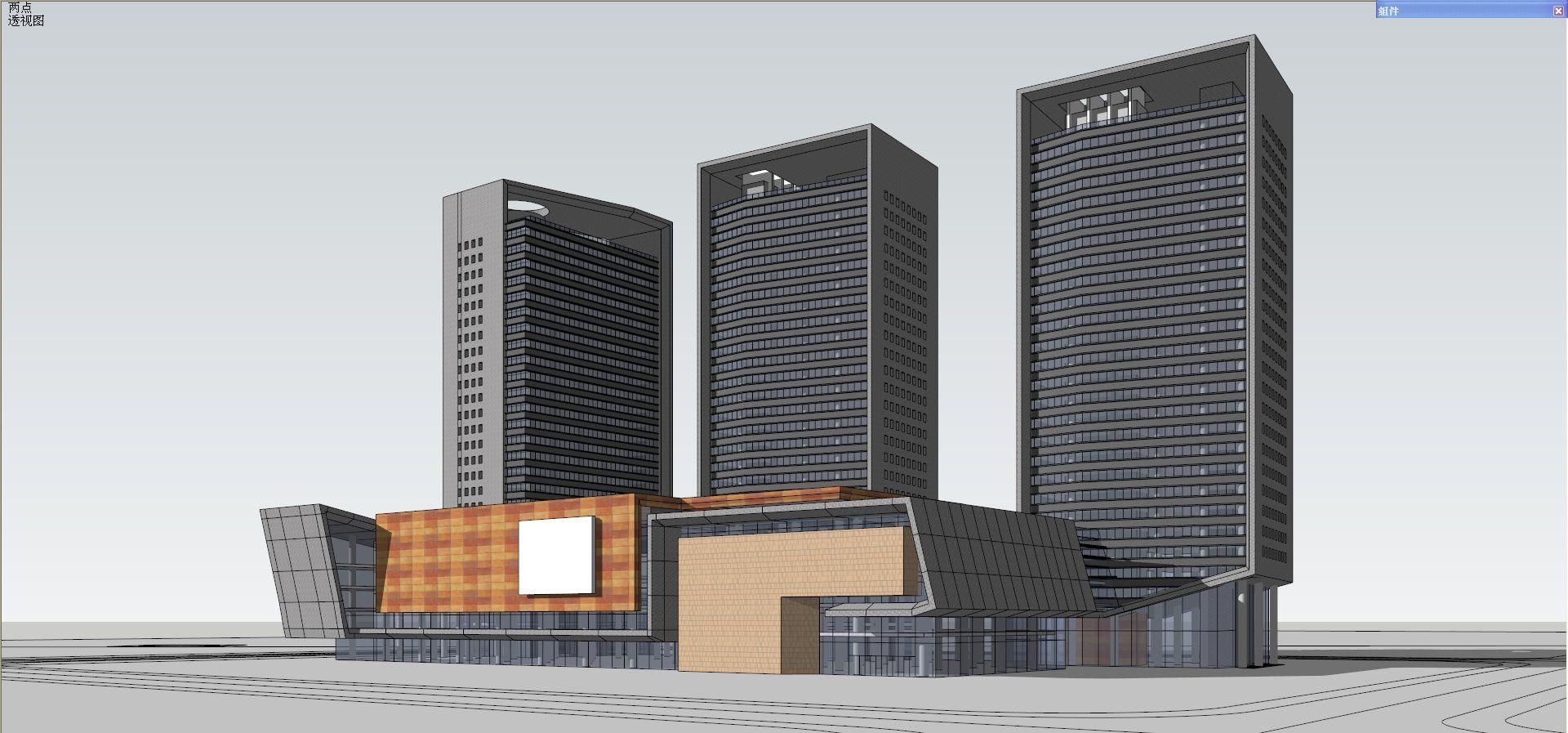 ☆Sketchup 3D Models-Large Scale City Sketchup Models 2