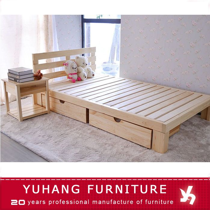 Source Wooden Box Bed Design Double With Drawers Single Drawer On