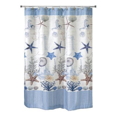 Avanti Antigua 54 Inch X 78 Inch Shower Curtain Fabric Shower