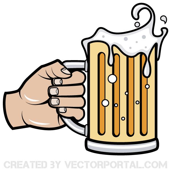 Hand Holding Beer Mug Vector Image Beer Vector Beer Beer Steins