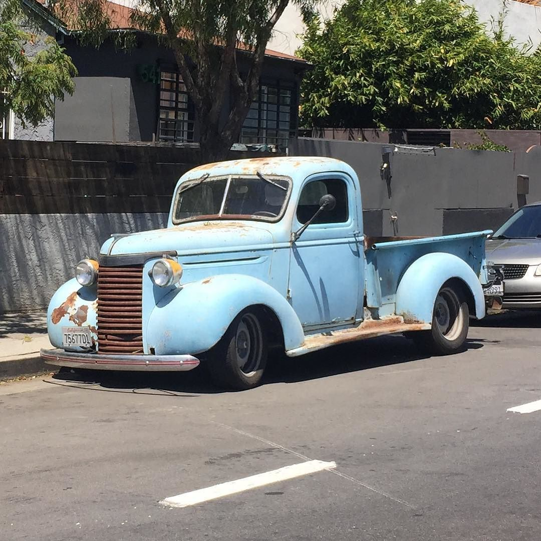 Old truck on the street #truck #coolclassiccars #carappraiser #american #oldschool #pickup #classiccars