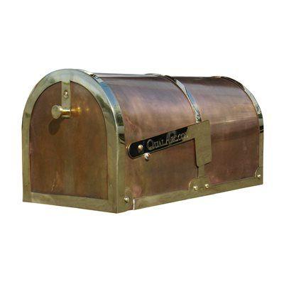 Qual Arc MB-3000-P Provincial Brass Mailbox