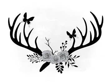 Floral antlers | Etsy