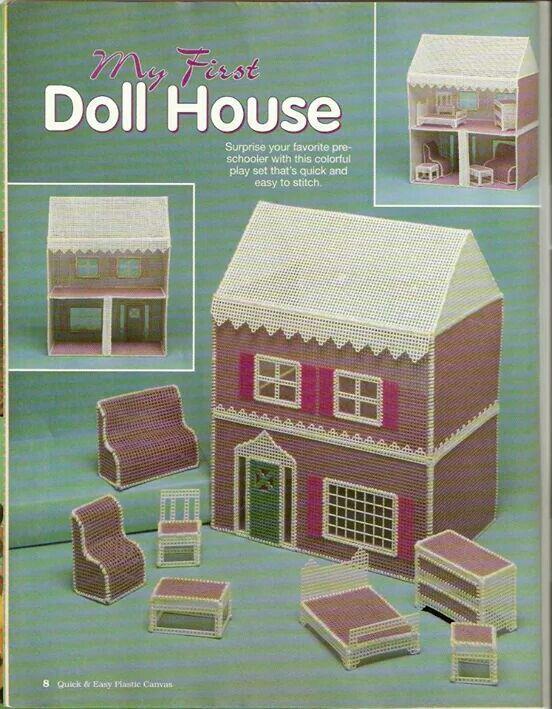 my first dollhouse | plastic canvas | pinterest | plastic canvas