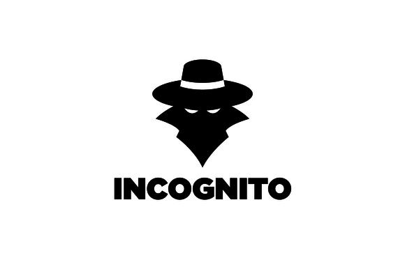 Incognito Spy Silhouette Logo Logo Design Incognito Graphic Design Logo