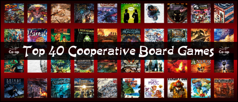 Top 40 Cooperative Board Games Board games, Top board