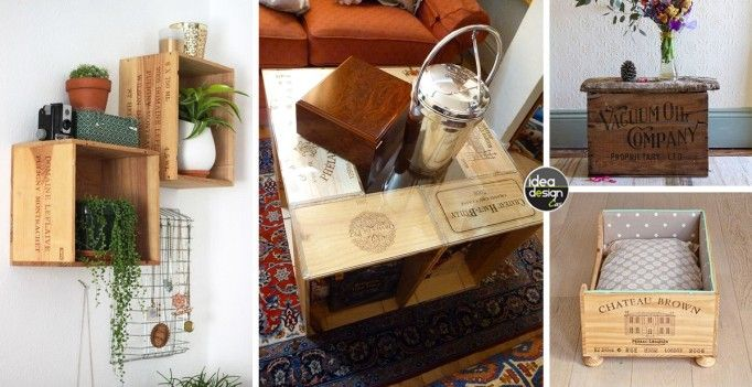 Idee Creative Casa : Riciclare le casse di vino e arredare casa idee creative