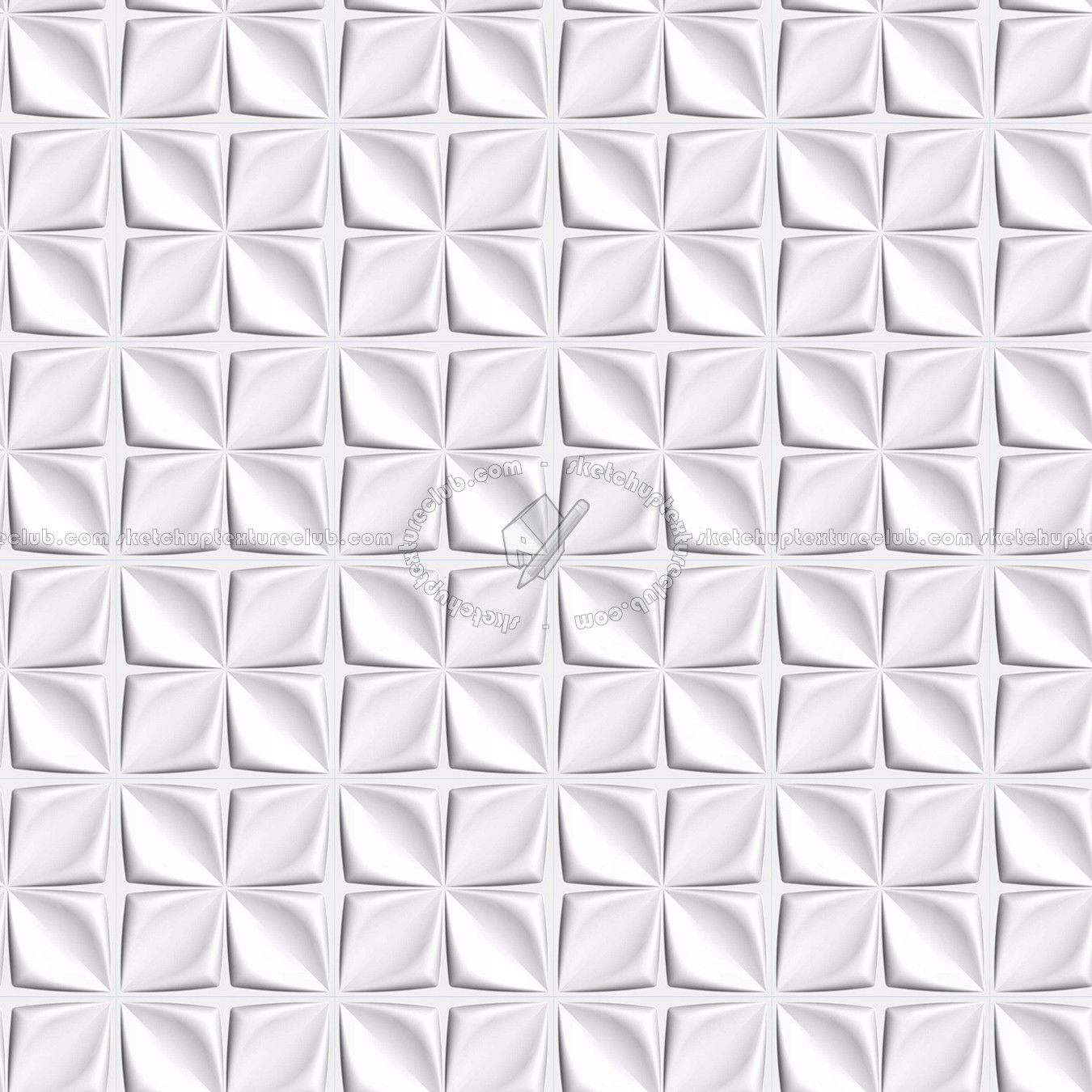 Texture Seamless White Interior 3d Wall Panel Texture