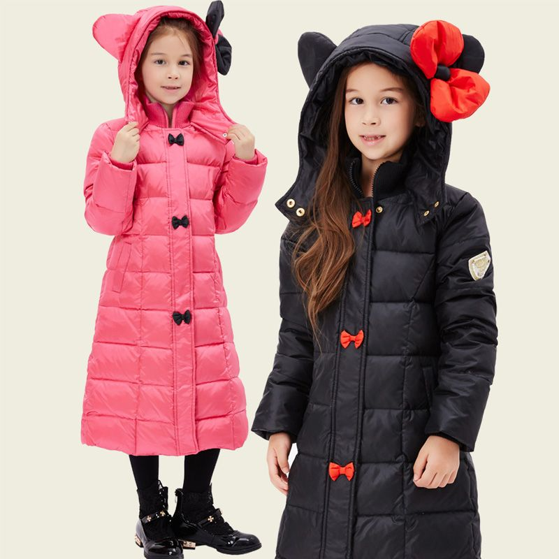 1d6acf8b7a3e New Girl Winter Coat Girls Long Parka Clothing Winter Girl Warm Coat Kids  Girl Thick Duck Down Jacket Child Bow Hooded Outerwear-in Down   Parkas  from ...