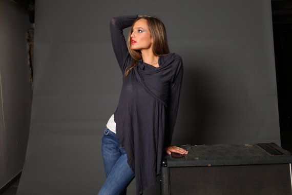 CRAZY SUMMER SALE / wrap shirt / womens top / by girlishstyle, $40.00