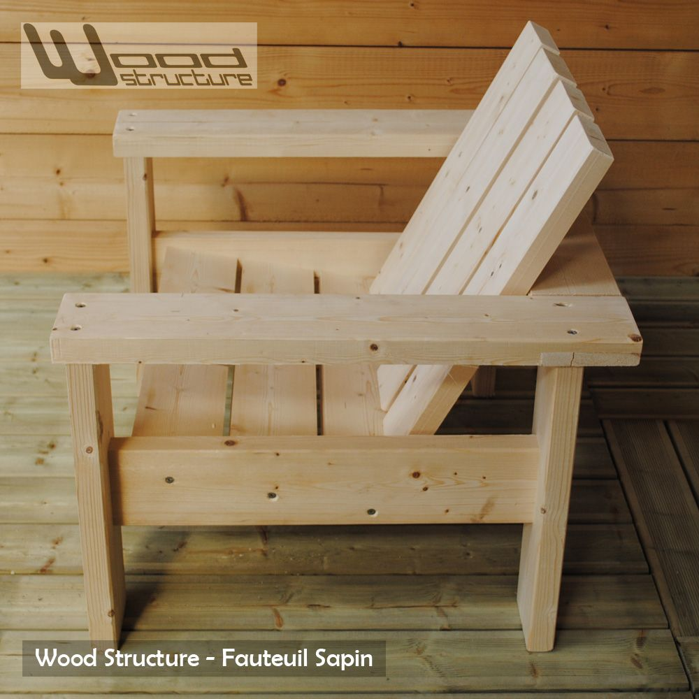 Fauteuil Sapin - Fauteuil Design Wood Structure - | handyman ...