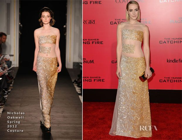 Jena Malone In Nicholas Oakwell Couture – 'The Hunger Games: Catching Fire' LA Premiere