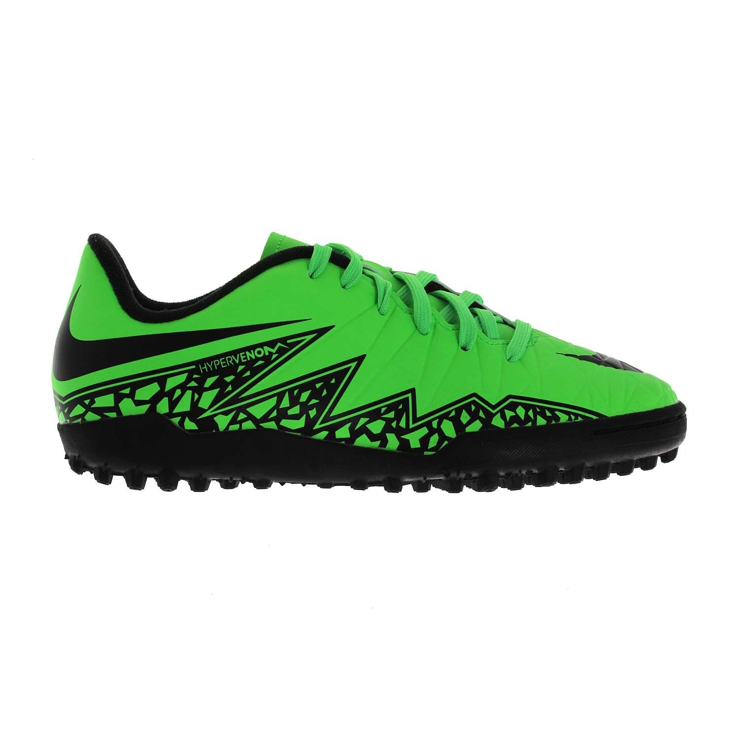 The Nike Hypervenom Phade II Men's TF Football Cleat features strategically  placed rubber studs for excellent traction.