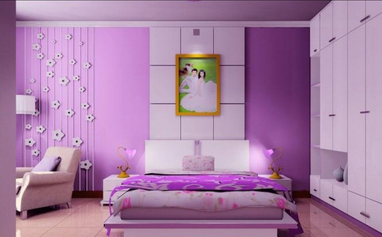 Wedding bedroom decoration ideas  Purple wedding bedroom decoration  bedroom decor ideas  Pinterest
