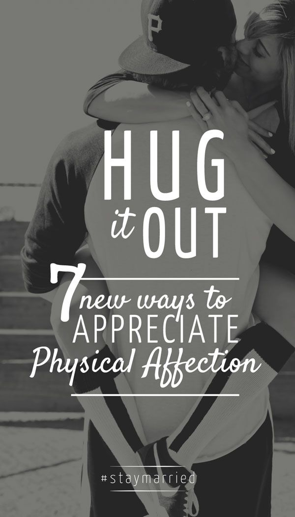 Physical affection in a relationship