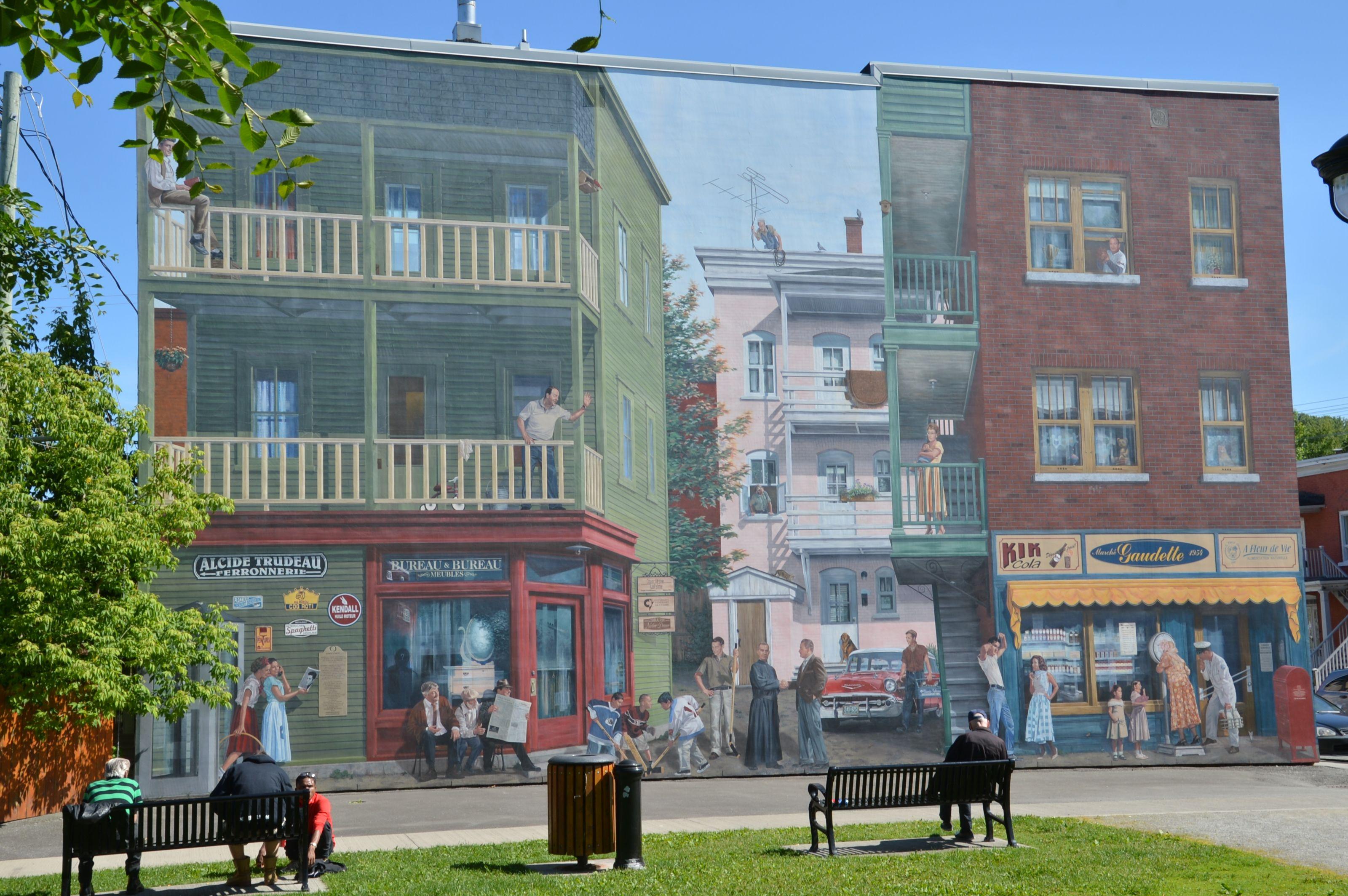 Sherbrooke Cantons De L Est Quebec Canada Parement Mural Quebec Canada Fresque