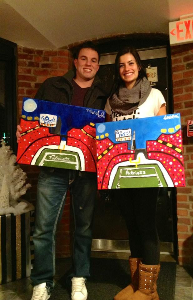 Go Pats! Painting on Newbury St
