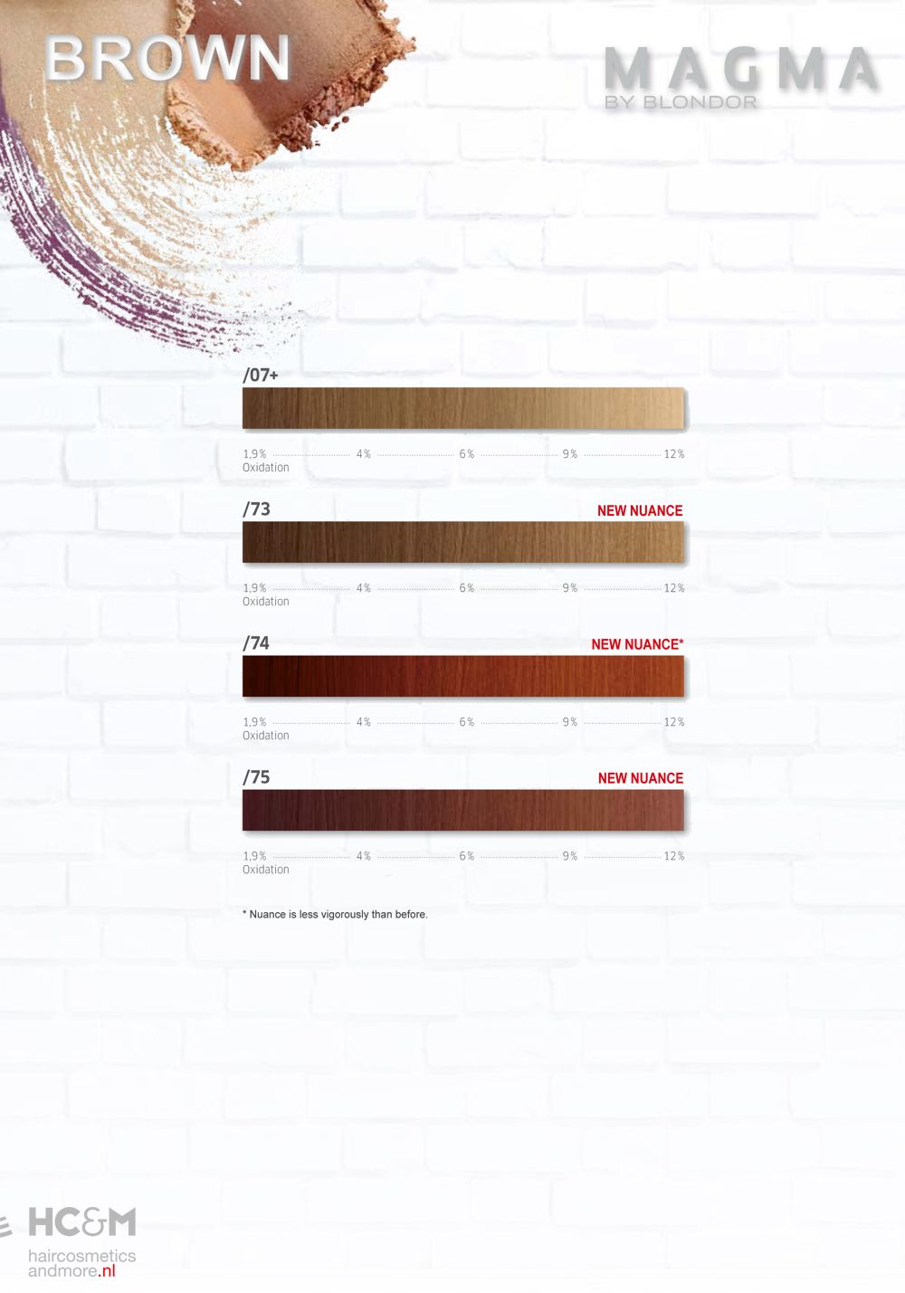 Magma by blondor brown nuances top stylist color charts hairstylists hair colour also wella pinterest rh