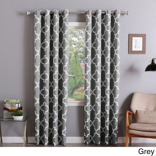 Aurora Home Moroccan Tile 96 Inch Window Curtain Panel Pair 68