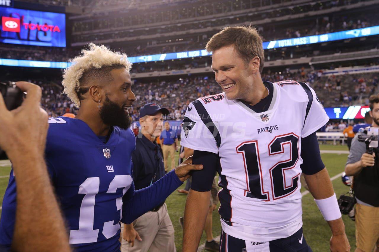 Odell Beckham Jr And Tom Brady Odell Beckham Jr Beckham Jr Patriots Football
