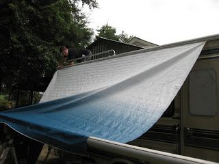 How To Replace Rv Slide Topper Awning Fabric Diy Awning Camper Awnings Awning