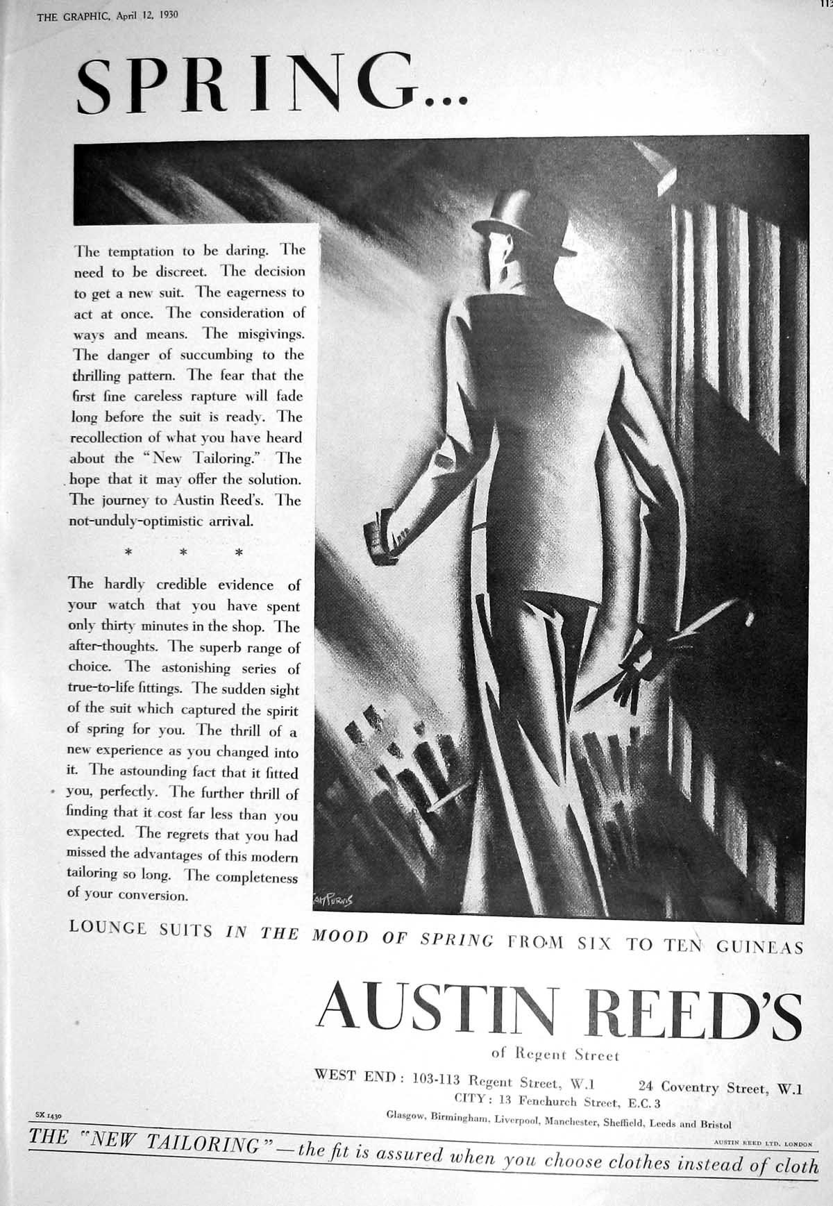 1930 Austin Reed Tailoring Stetson Hats Castell Garden Olympia Exhibition Mens Fashion Illustration Austin Reed Stetson Hat