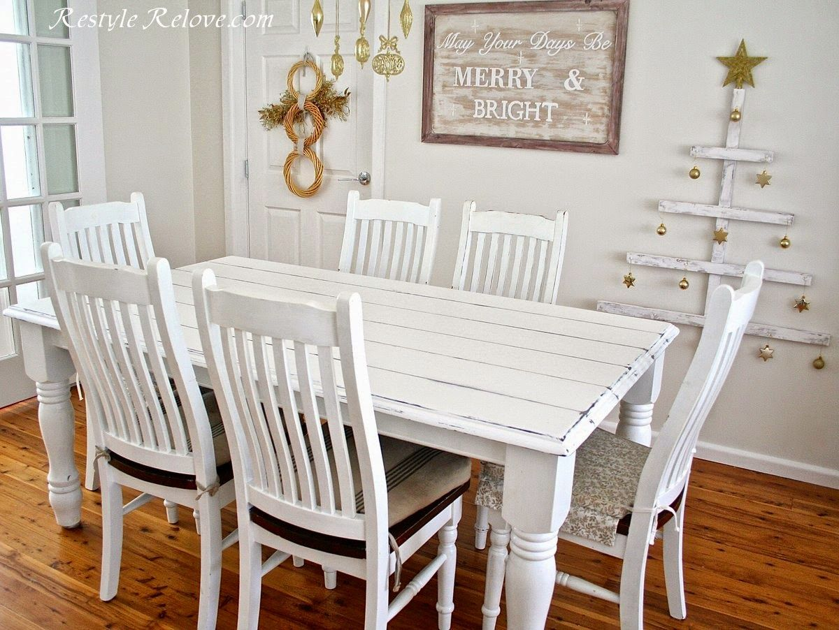 Restyle Relove Faux Plank Farmhouse Table  Chalk Painted Glamorous Plank Dining Room Table Design Inspiration