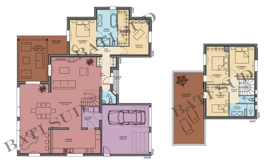 Maison - AREVA - Bati Sud - 279730 euros - 190 m2 Faire construire