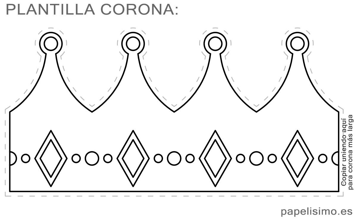 plantilla corona de goma eva diy king crown template maske