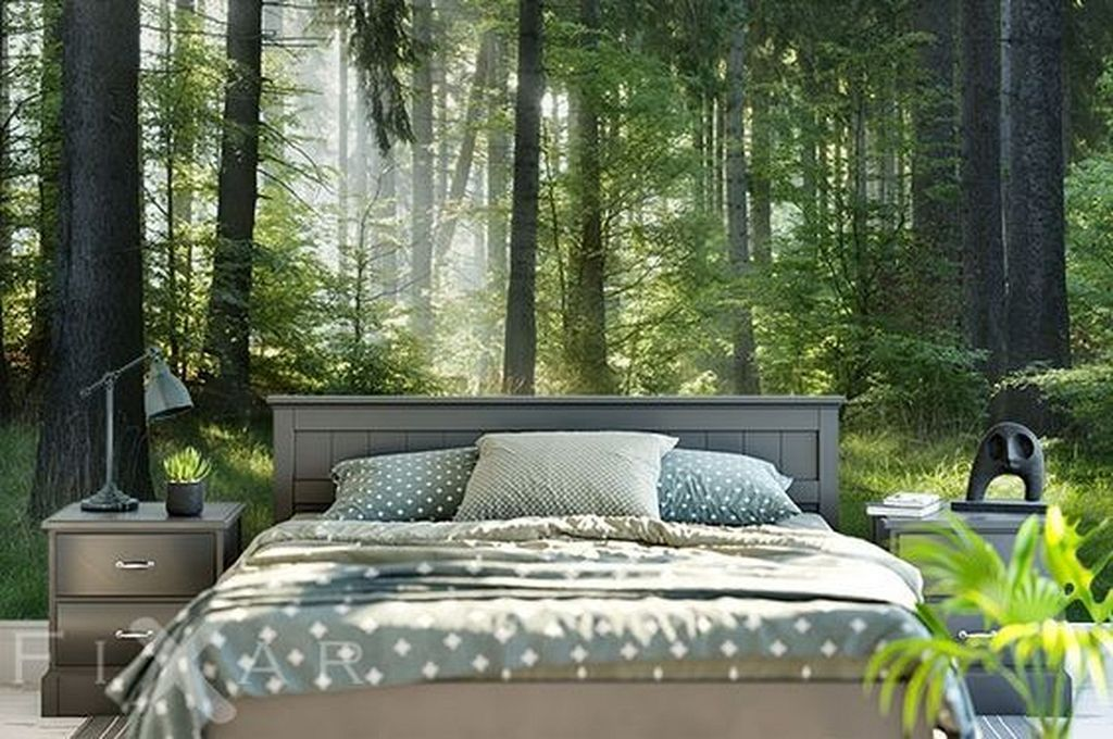 20 Nature Wallpaper Design Ideas For Your Bedroom Decor With