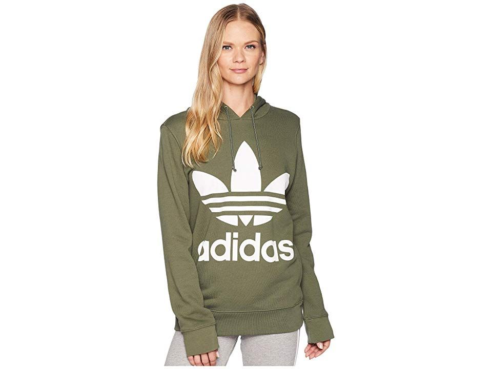 cd292cec adidas Originals Trefoil Hoodie (Base Green) Women's Long Sleeve ...