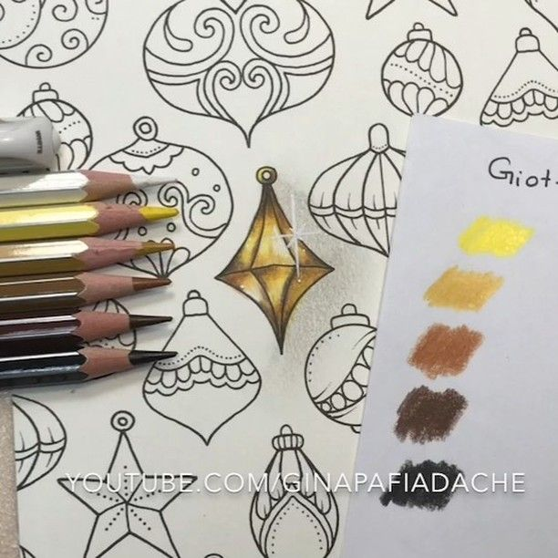 How to color gold effect | Colored pencil drawings | Pinterest ...