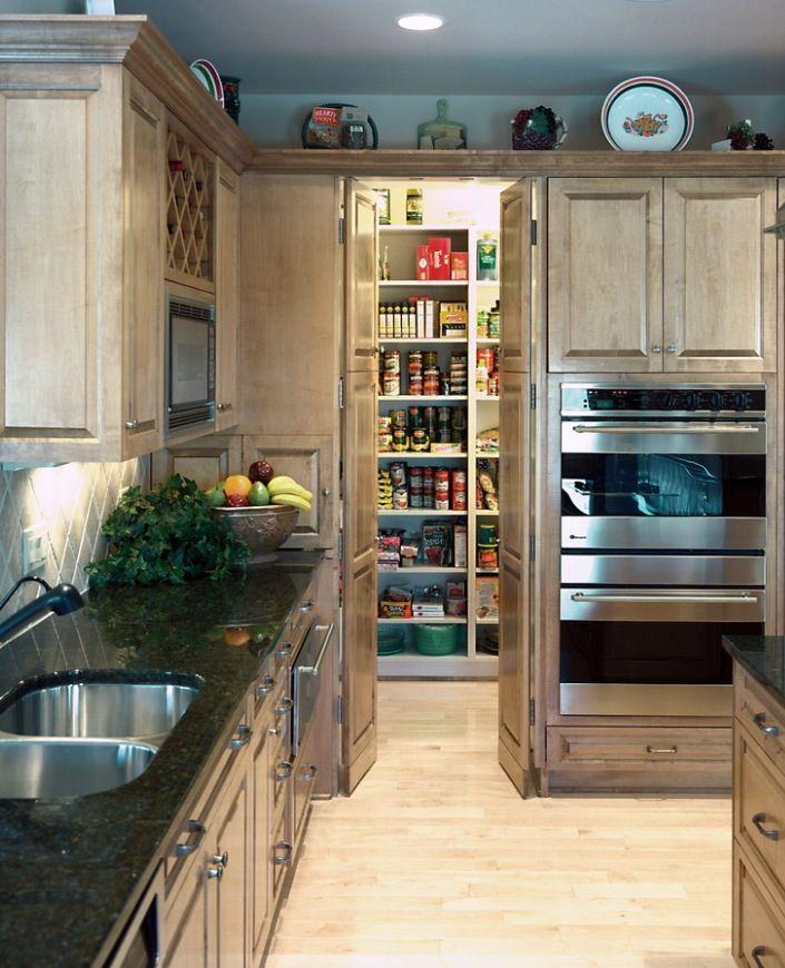 Hidden pantry idea Dream house in 2018 Kitchen, Kitchen pantry