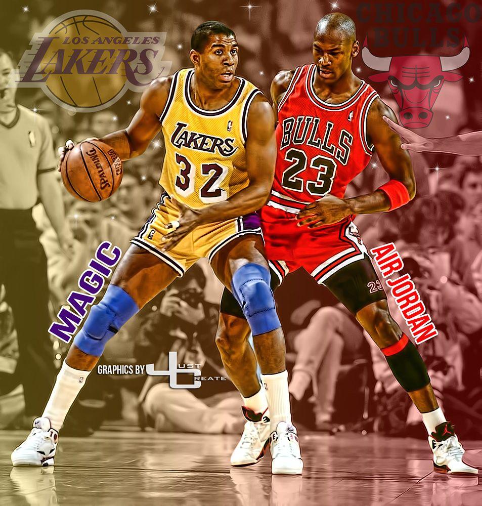 841b2b7fd4a Magic Johnson vs. Michael Jordan graphics by justcreate Sports Edits ...