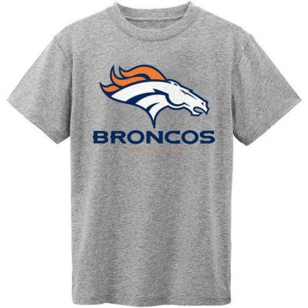 NFL Denver Broncos Youth Short Sleeve Grey Tee, Boy's, Size: XS, Gray