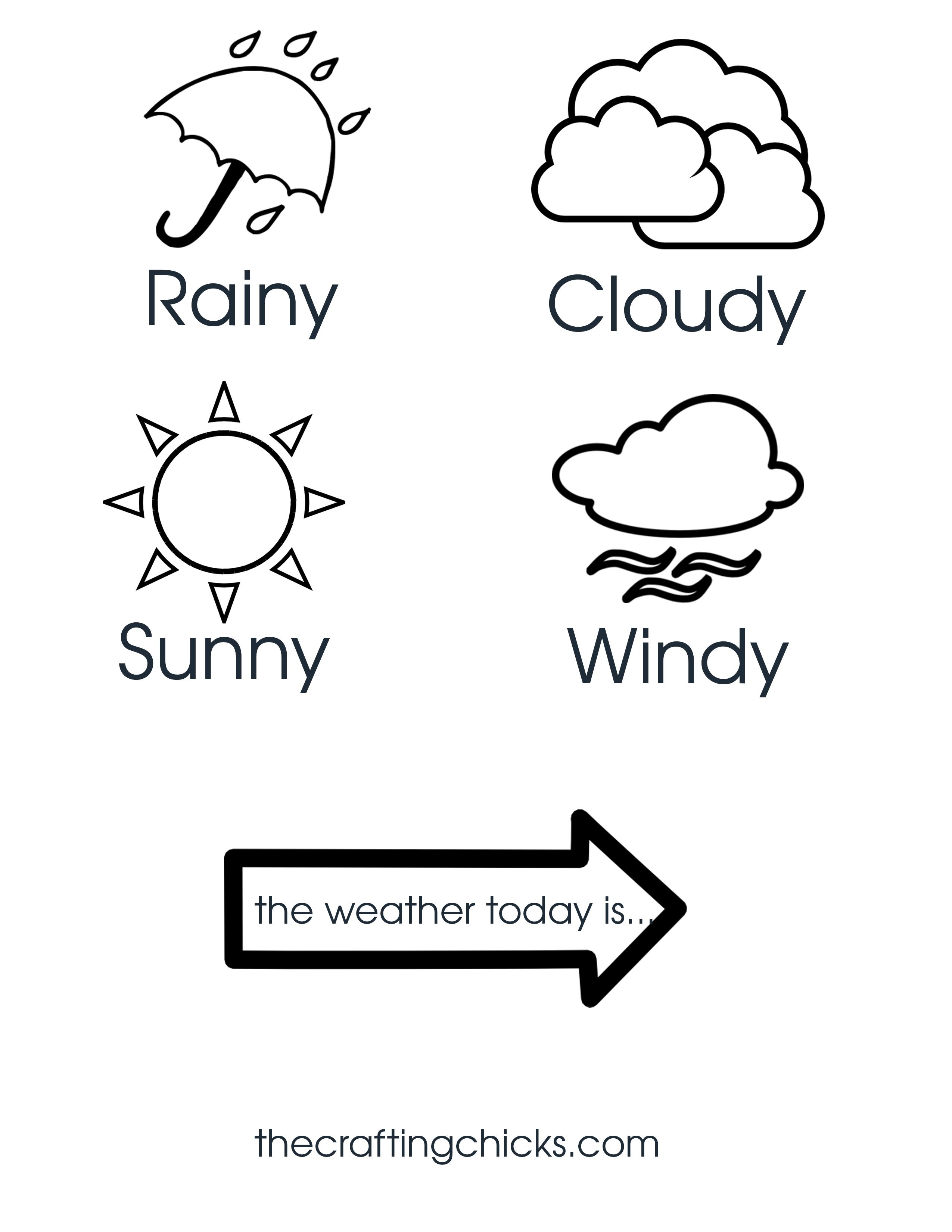 Weather Chart Kid Craft | Pinterest | Weather, Chart and Craft