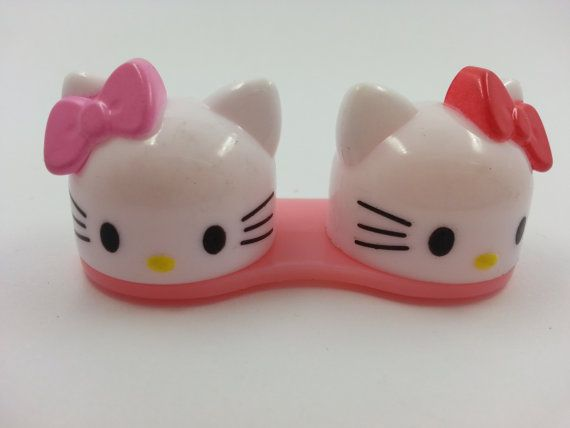 Japanese Super Cute Hello Kitty Contact Lens Case by muimuichow, $3.79 // Hello Kitty Kontaktlinsen-Behälter