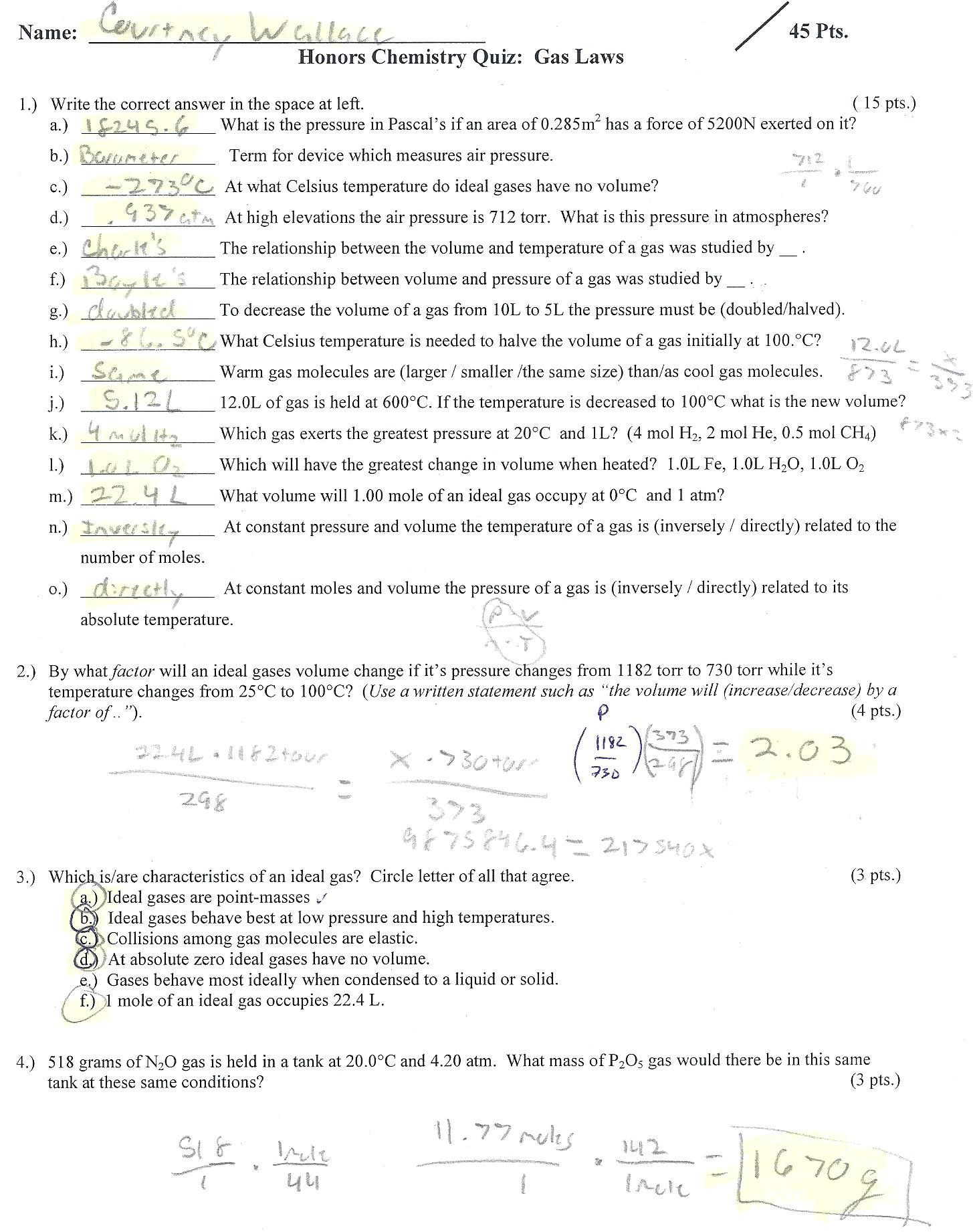 Boyle039s Law Worksheet Answer Key In 2020 Math Fractions Worksheets Gas Laws Chemistry 2nd Grade Math Worksheets