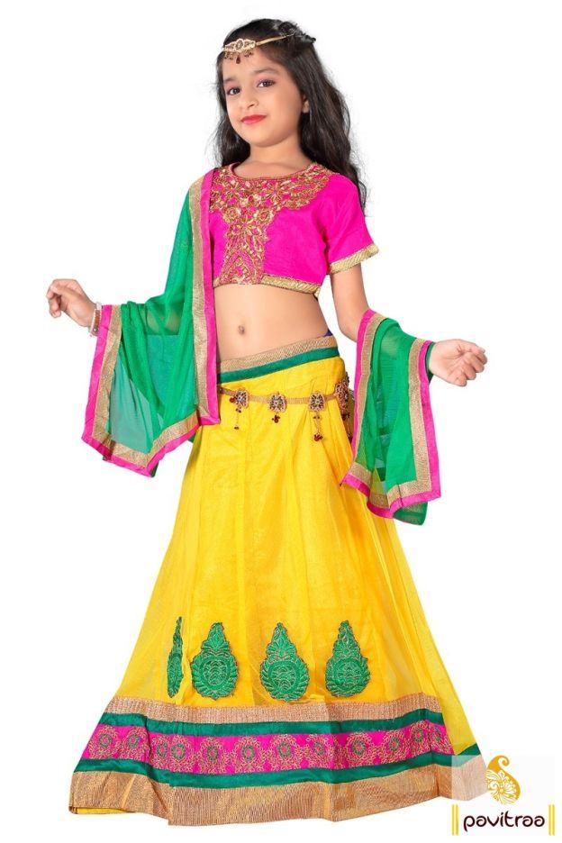Get existing discount offer on yellow pink net lehenga choli set for kids special designer best look. It is decorated with embroidery patch work and fancy border. #kidgirllehengacholi, #babychaniyacholi, #babynavratrichaniyacholi, #babyghaghracholi, #girllehengastyle, #discountoffer, #pavitraafashion, #utsavfashion, #kidswearshopping, #yellowkidlehengacholi http://www.pavitraa.in/store/kids/ callus:+91-7698234040